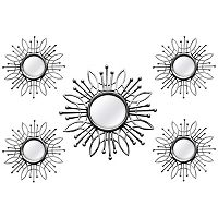 Stratton Home Decor Burst Wall Mirror 5-piece Set