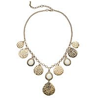 GS by gemma simone Hammered Teardrop Charm Necklace