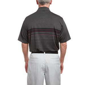 Men's Pebble Beach Classic-Fit Geometric Performance Golf Polo