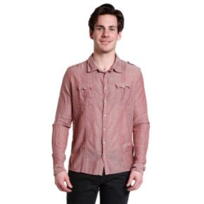 Men's Excelled Slim-Fit Snap-Front Shirt