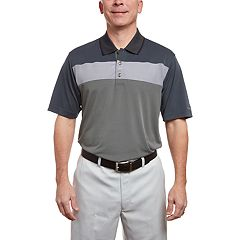 Men's Pebble Beach Classic-Fit Texture-Striped Performance Golf Polo