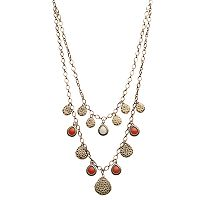 GS by gemma simone Layered Teardrop Charm Necklace