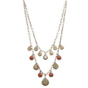GS by gemma simone Layered Teardrop Charm Necklace