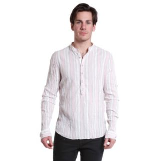 Men's Excelled Slim-Fit Striped Henley