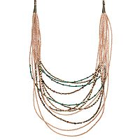 GS by gemma simone Seed Bead Swag Necklace