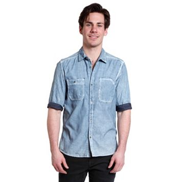 Men's Excelled Woven Denim Shirt