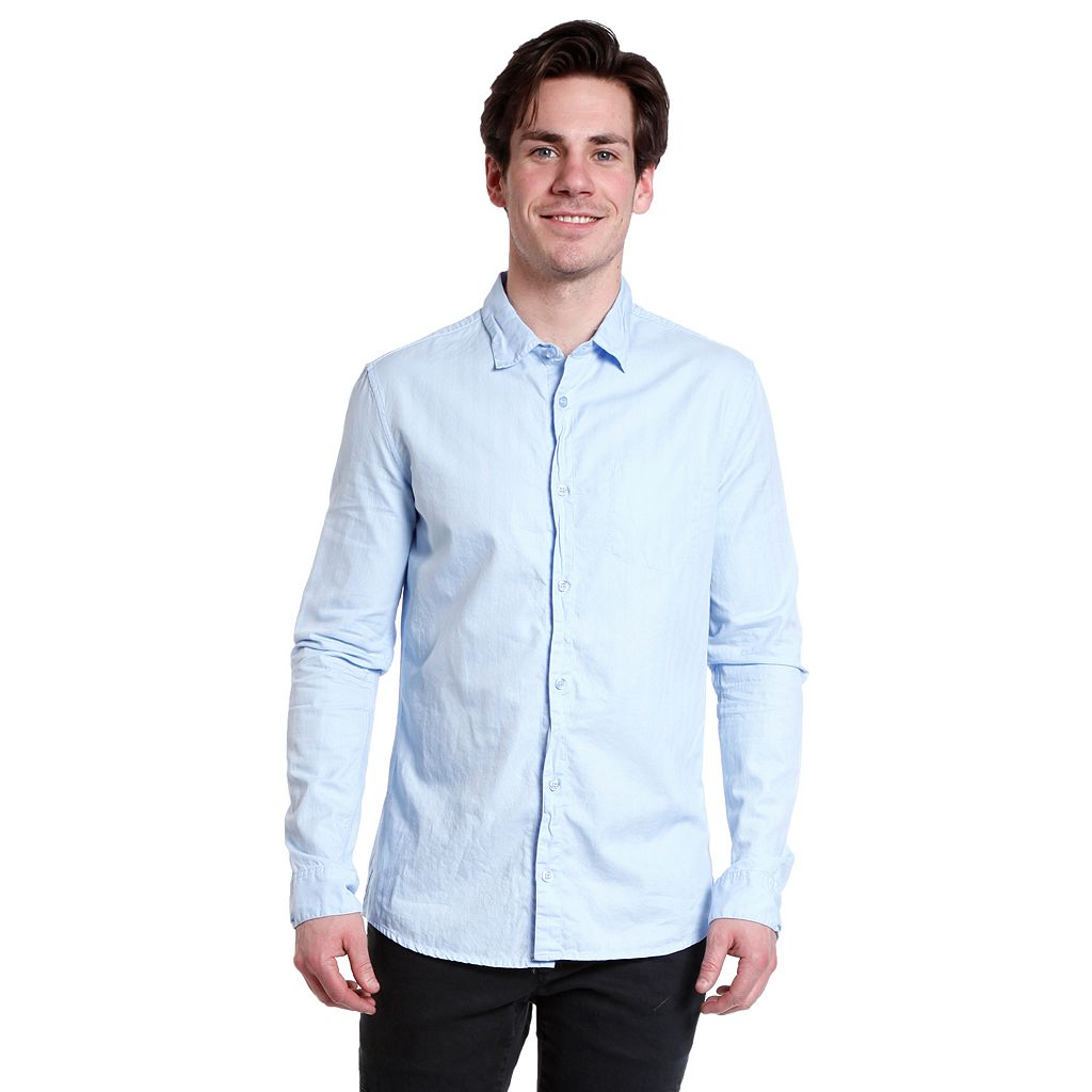 Men's Excelled Solid Button-Down Shirt