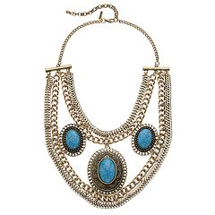 GS by gemma simone Simulated Turquoise Statement Necklace