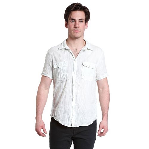 Excelled Linen Button-Down Shirt