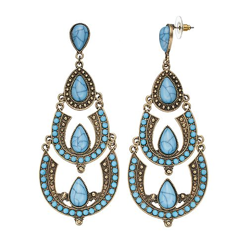GS by gemma simone Teardrop Chandelier Earrings