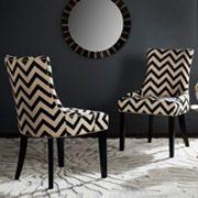 Safavieh Lester Chevron Dining Chair 2 pc Set