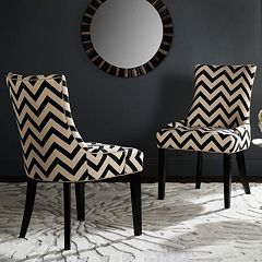 Safavieh Lester Chevron Dining Chair 2 pc Set