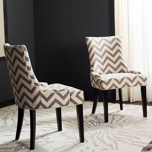 Safavieh Lester Chevron Dining Chair 2-piece Set