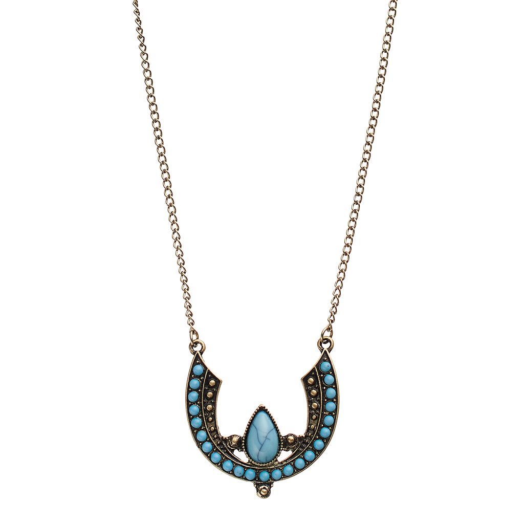 GS by gemma simone Simulated Turquoise Crescent Necklace