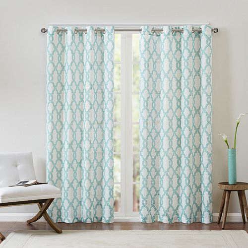 Madison Park 1-Panel Grant Textured Fretwork Window Curtain