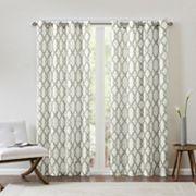 Madison Park Grant Textured Fretwork Window Curtain