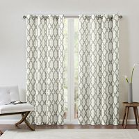 Madison Park Grant Textured Fretwork Curtain
