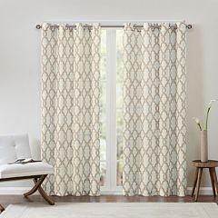 Madison Park 1-Panel Grant Textured Fretwork Window Curtain