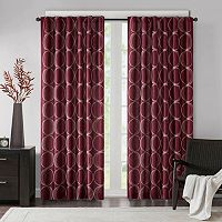 Madison Park Lenox Embroidered Taffeta Window Curtain