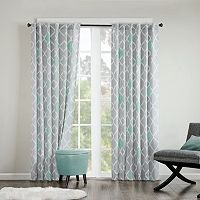 INK+IVY Nile Diamond Geo Cotton Curtain