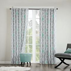 INK+IVY Nile Diamond Geo Cotton Window Curtain