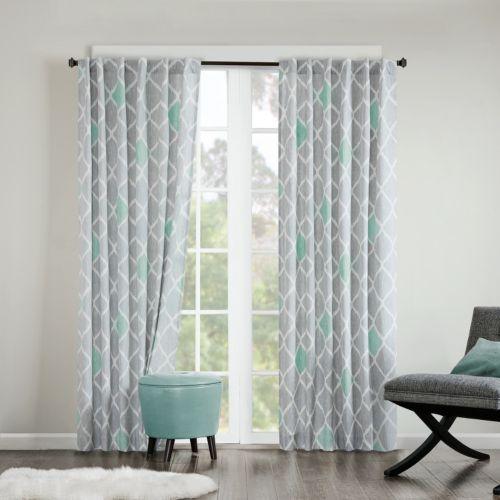 INK+IVY Nile Diamond Geo Cotton Curtain