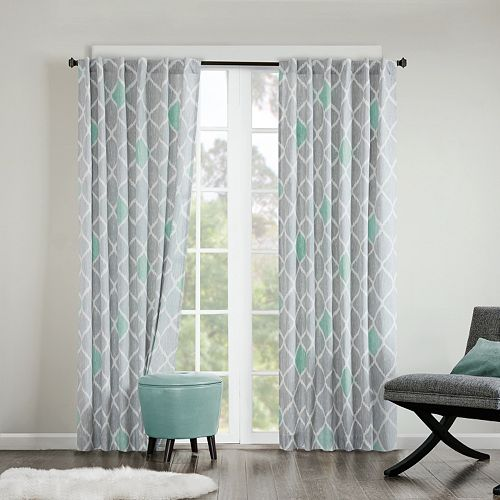 INK+IVY Nile Diamond Geo Cotton Window Curtain