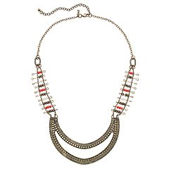 GS by gemma simone Beaded Crescent Necklace