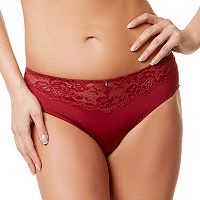 Montelle Intimates Lace-Trim High-Cut Brief 9187