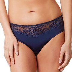 Montelle Intimates Lace-Trim High-Cut Brief 9187