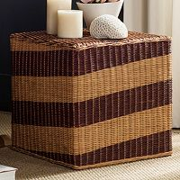Safavieh Tygo Wicker Cube Stool