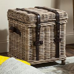 Safavieh Kacia Wicker Side Trunk