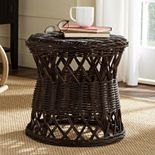 Safavieh Desta Wicker Round End Table
