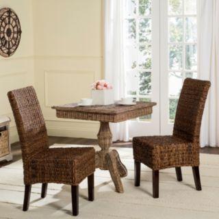Safavieh Avita Wicker Dining Chair 2-piece Set