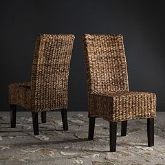 Safavieh Avita Wicker Dining Chair 2-piece Set