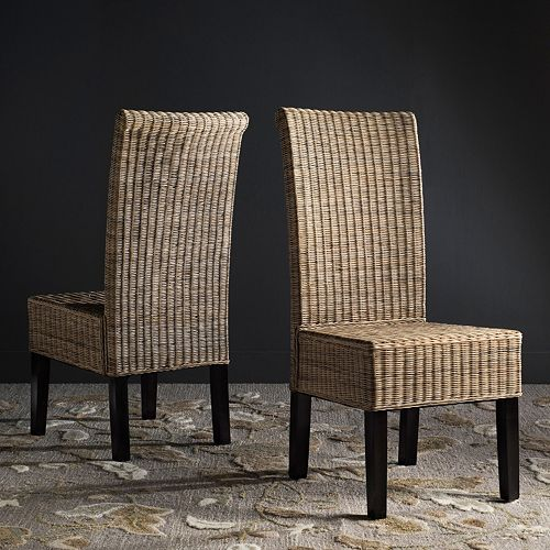 Safavieh Arjun Wicker Dining Chair 2-piece Set