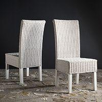 Safavieh Arjun Wicker Dining Chair 2-piece Set