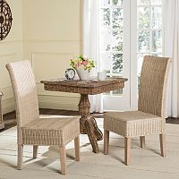 Safavieh Arjun Wicker Dining Chair 2 pc Set