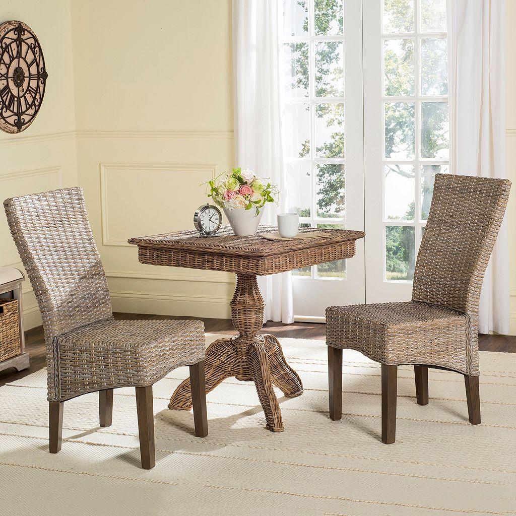 Safavieh Ozias Wicker Dining Chair 2-piece Set