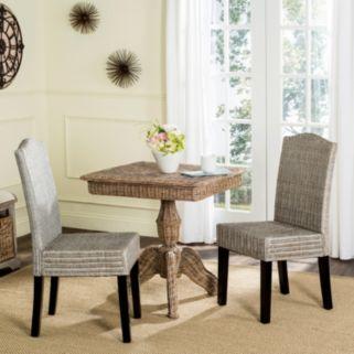 Safavieh Odette Wicker Dining Chair 2-piece Set