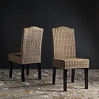 Safavieh Odette Wicker Dining Chair 2-piece Set