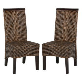 Safavieh Ilya Wicker Dining Chair 2-piece Set