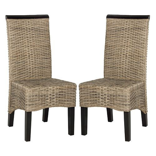 Safavieh Ilya Wicker Dining Chair 2-piece Set