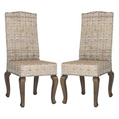 Safavieh Milos Wicker Dining Chair 2-piece Set