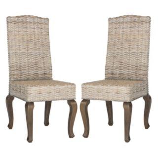 Safavieh Milos Wicker Dining Chair 2-piece Set