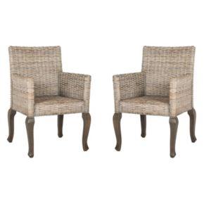 Safavieh Armando Wicker Dining Chair 2-piece Set
