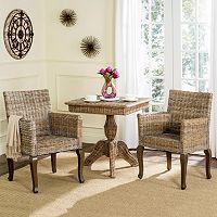 Safavieh Armando Wicker Dining Chair 2 pc Set