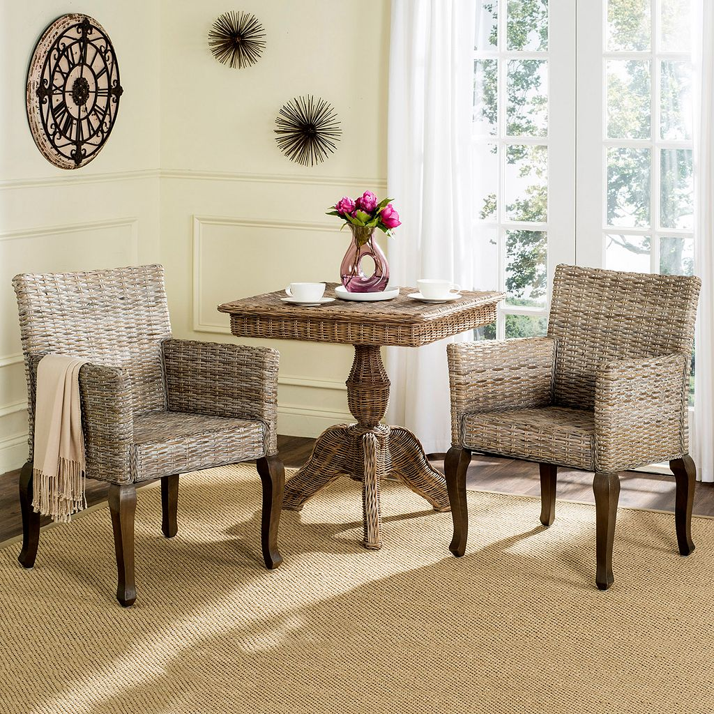 Safavieh Armando Wicker Dining Chair 2-piece Set