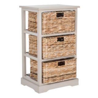 Safavieh Halle Wicker Basket Storage End Table