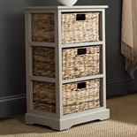 Safavieh Halle Wicker Basket Storage End Table